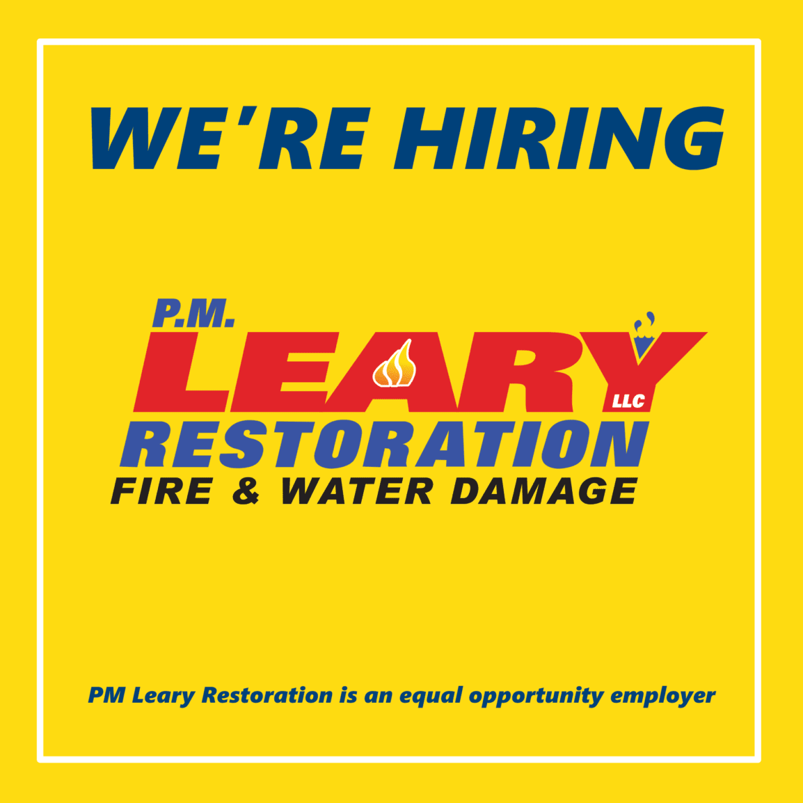 PM Leary Restoration Jobs